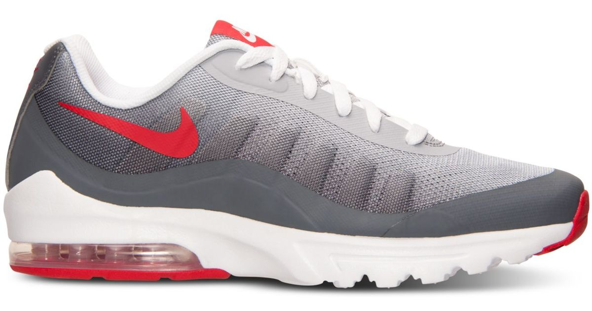 new arrival 4c202 0b73d Nike Men s Air Max Invigor Print Running Sneakers From Finish Line in Red  for Men - Lyst