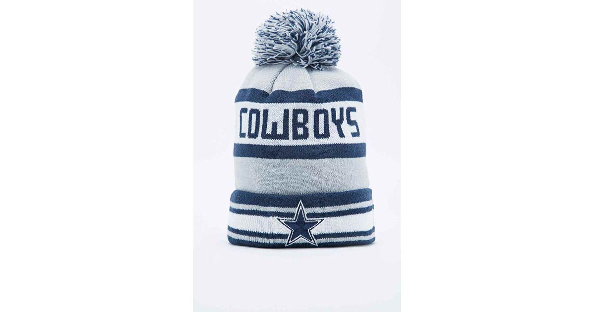6147f4fa7f41fa KTZ Dallas Cowboys Bobble Hat In Grey in Gray for Men - Lyst