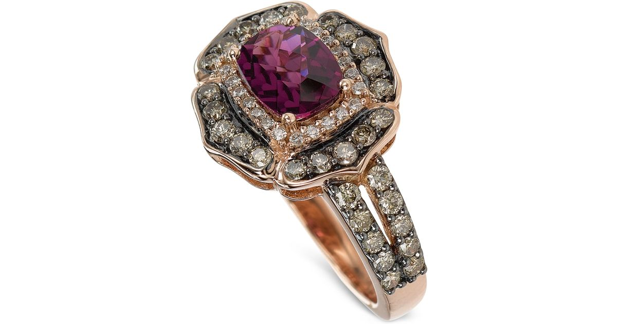 Le Vian Garnet And Diamond Ring