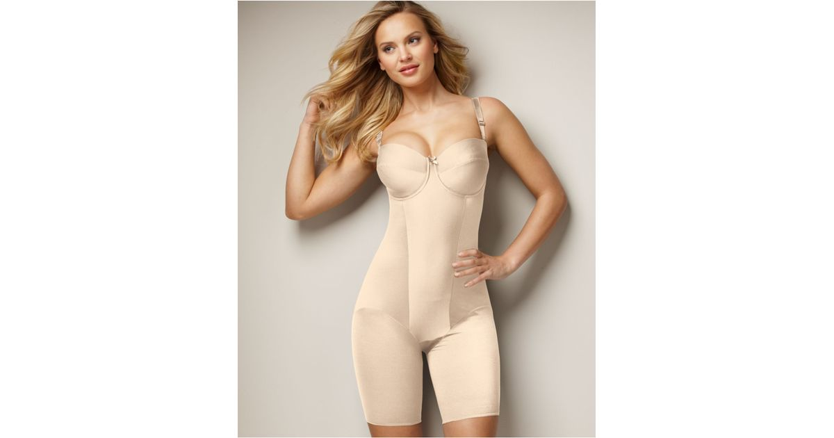 2637987342 Lyst - Miraclesuit Extra Firm Control Strapless Thigh Slimming Body Shaper  2791 in Natural