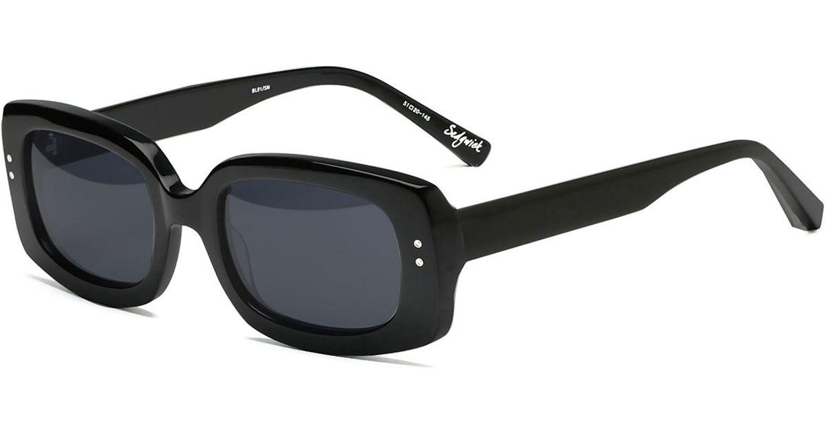 804bb15775e52 Elizabeth and James Sedgwick Rectangular Sunglasses in Black - Lyst