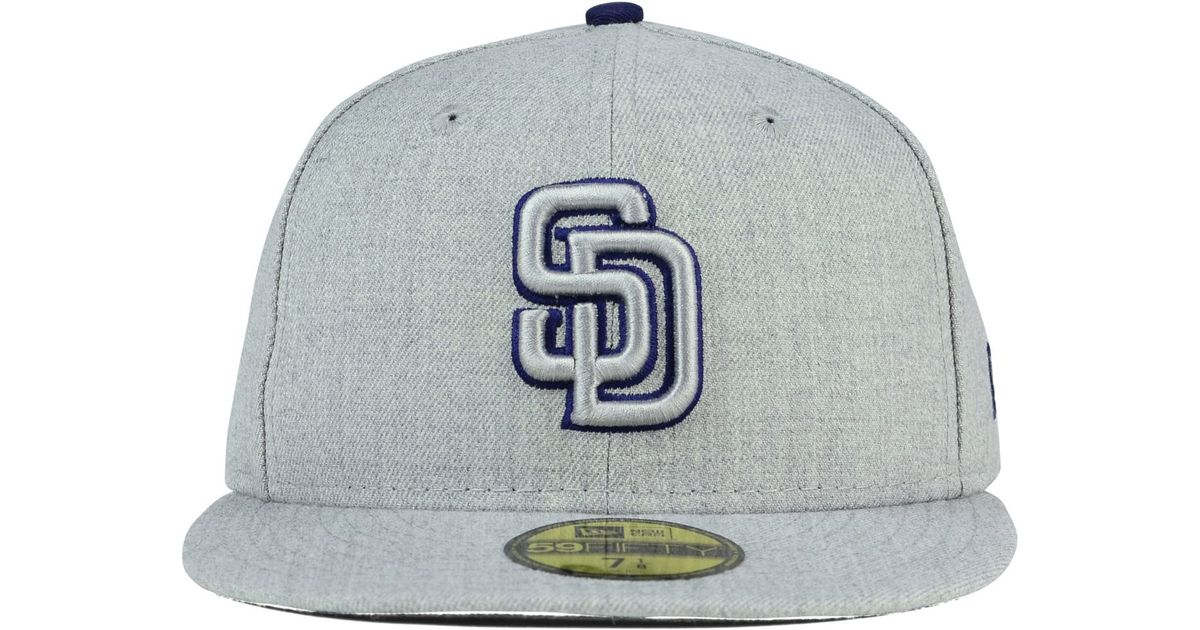 bd60ff01919fd7 ... hot lyst ktz san diego padres heather league basic 59fifty cap in gray  for men eda57