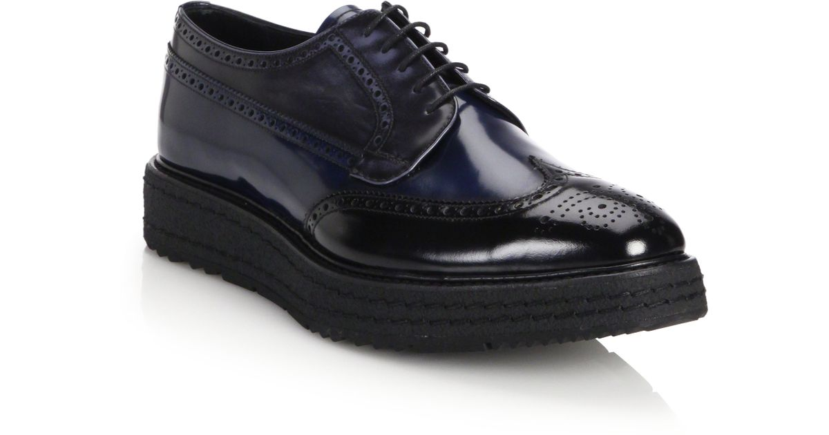 Prada Chaussures Derby En Cuir 1Y8IxO