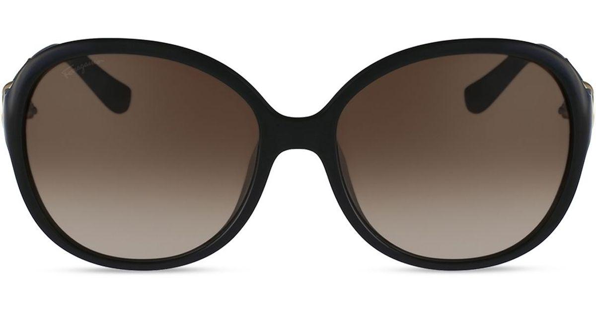 Ferragamo Leather Oversized Round Sunglasses, 59mm in ...