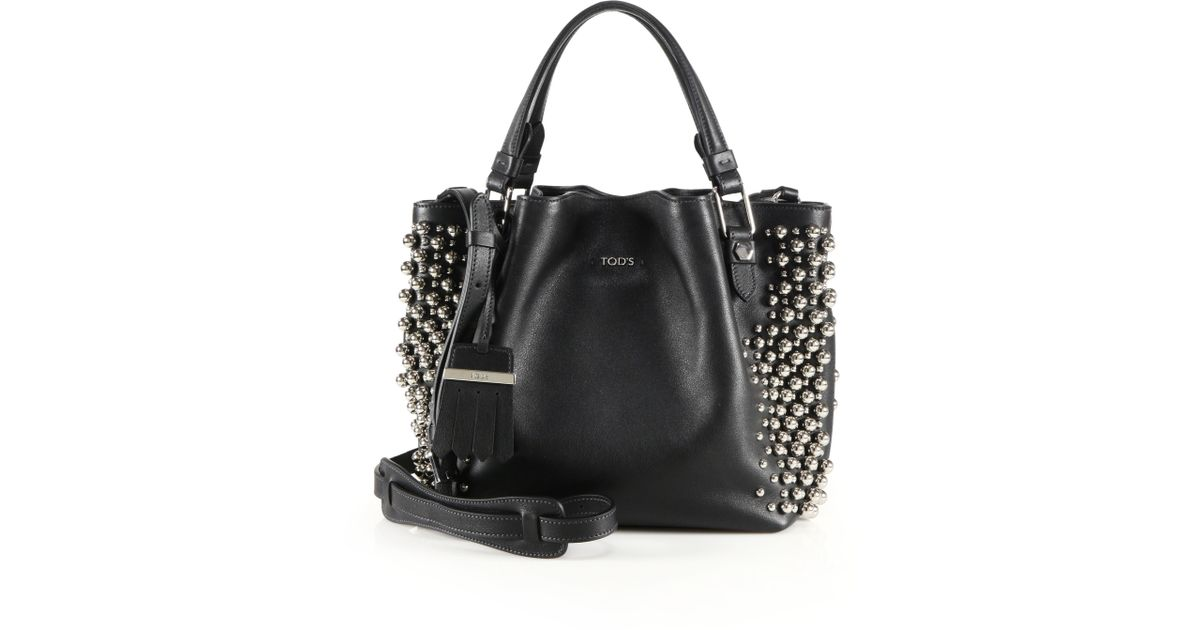 Tod's Shoulder bag with studs C8X27