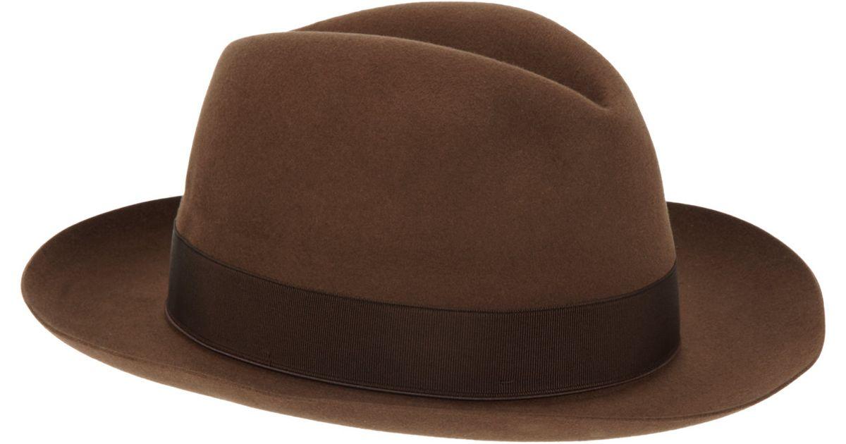 trilby hat - Brown Borsalino Yxor4faWF