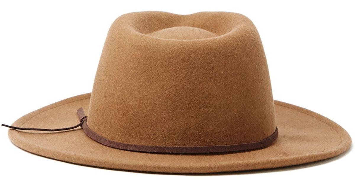 782cd9692ad61 Forever 21 Men Wide-brim Wool Fedora in Natural - Lyst