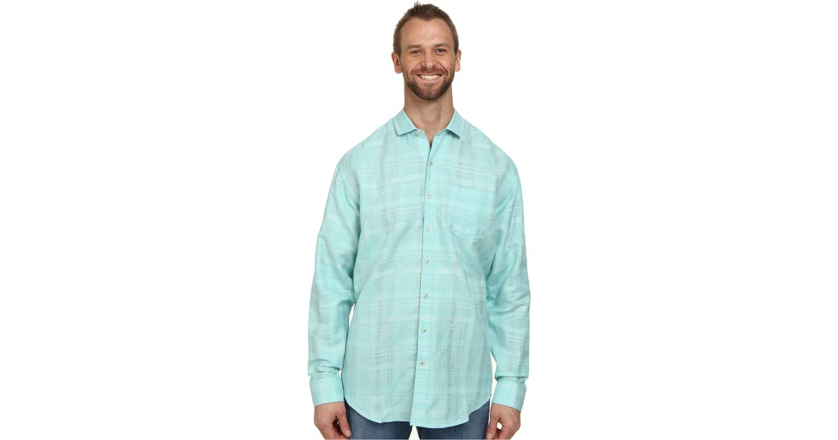 Tommy bahama big tall squarely there l s button up in for Big and tall button up shirts
