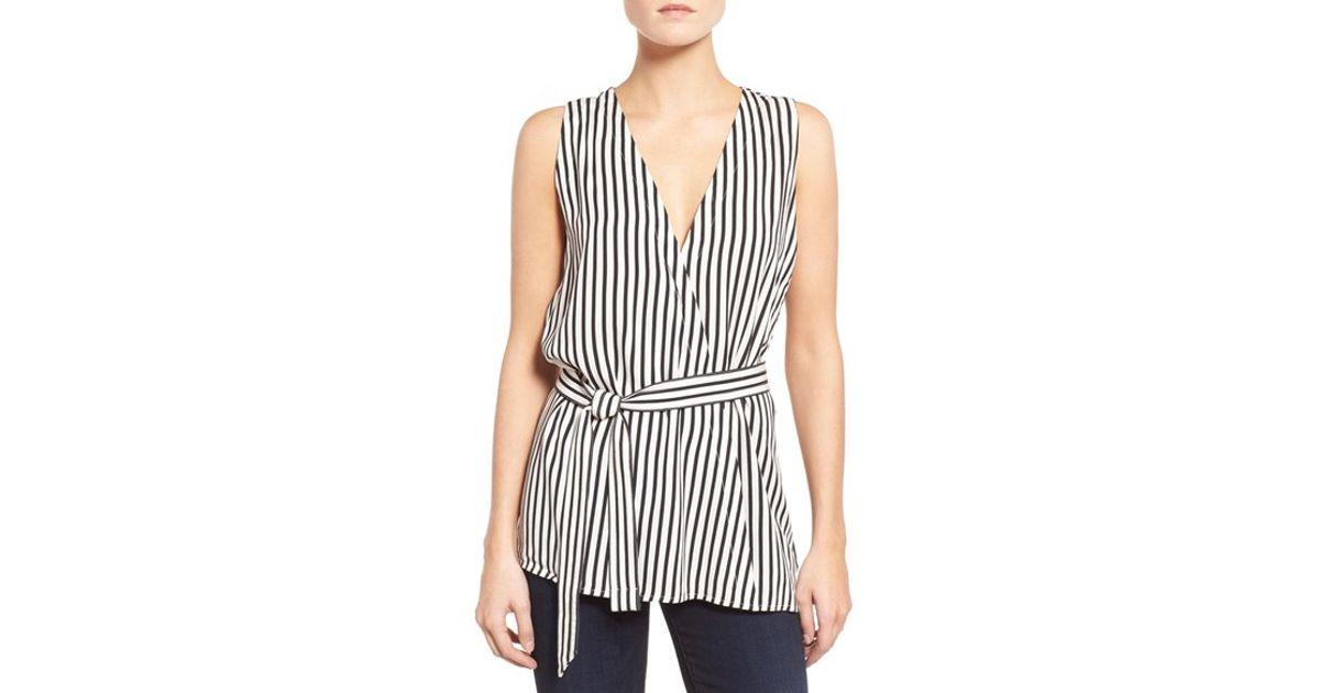 01036f8788e3a Lyst - Trouvé Stripe Belted Top in Black