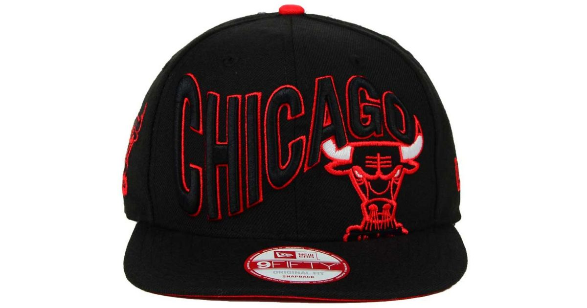 7ca8e4ccba1c58 KTZ Chicago Bulls Hwc Neon Wave 9fifty Snapback Cap in Black for Men - Lyst