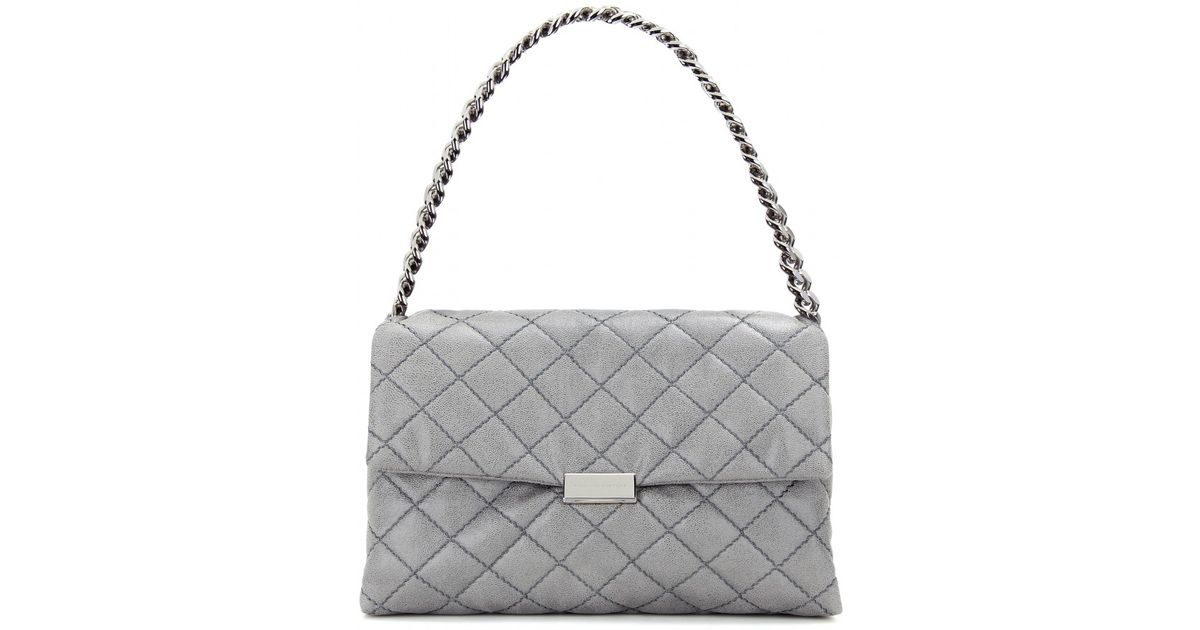 ec32f425c325 Lyst - Stella McCartney Soft Beckett Medium Quilted Shoulder Bag in Gray