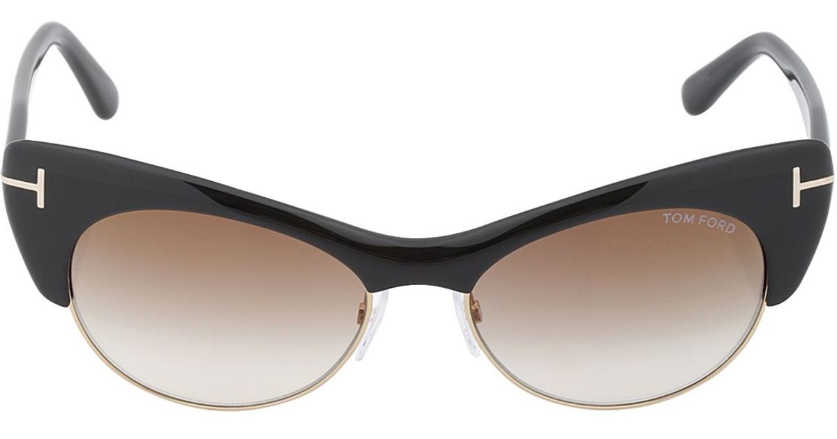 tom ford lola cat eye sunglasses in black lyst. Cars Review. Best American Auto & Cars Review