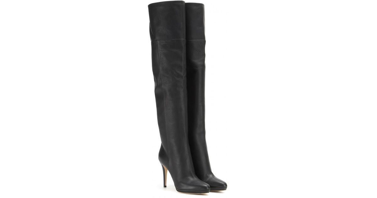 9ac3cd941231 Jimmy Choo Giselle Leather Over-the-knee Boots in Black - Lyst
