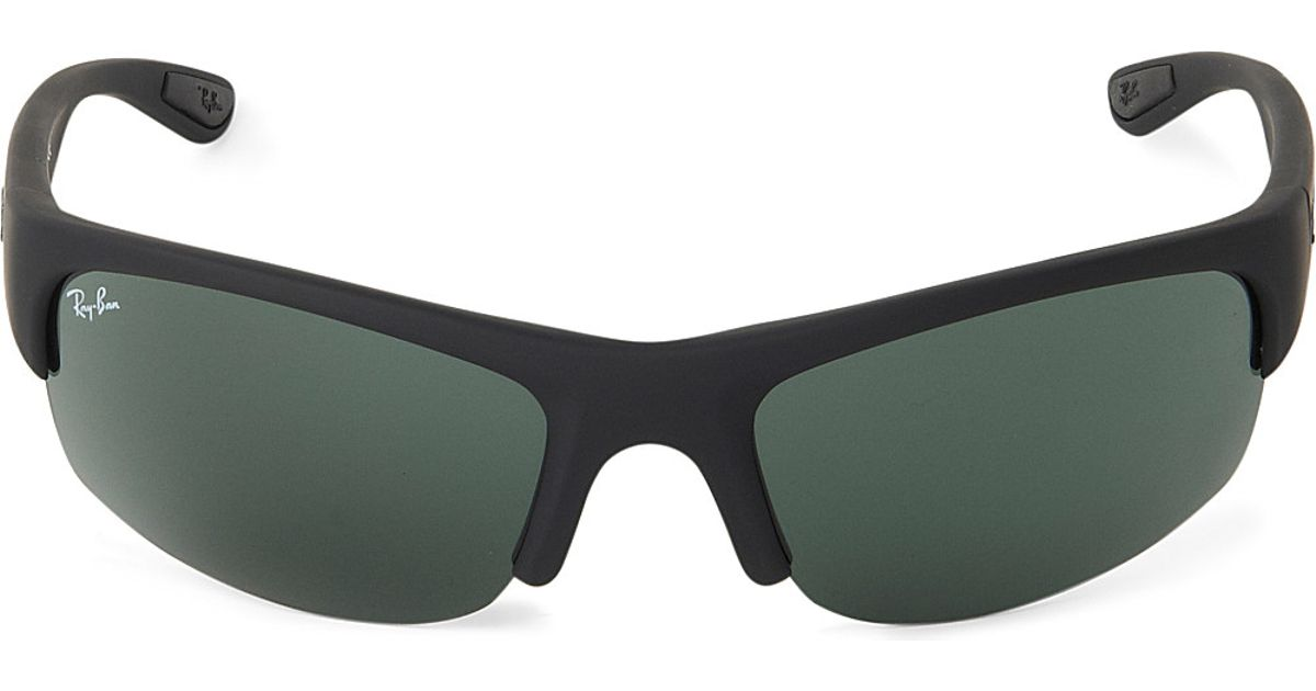 9033959056 Ray-Ban Polarized Wraparound Sunglasses - For Men in Gray for Men - Lyst