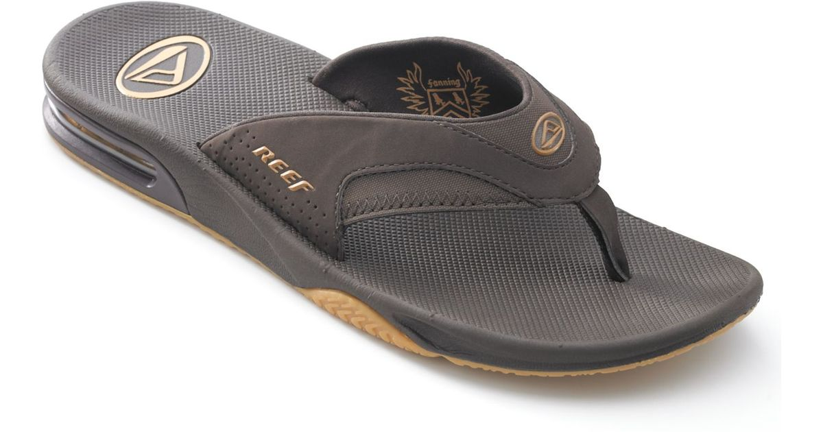 b7bb57a89c17 Lyst Reef Men S Fanning Sandals With Bottle Opener In Brown