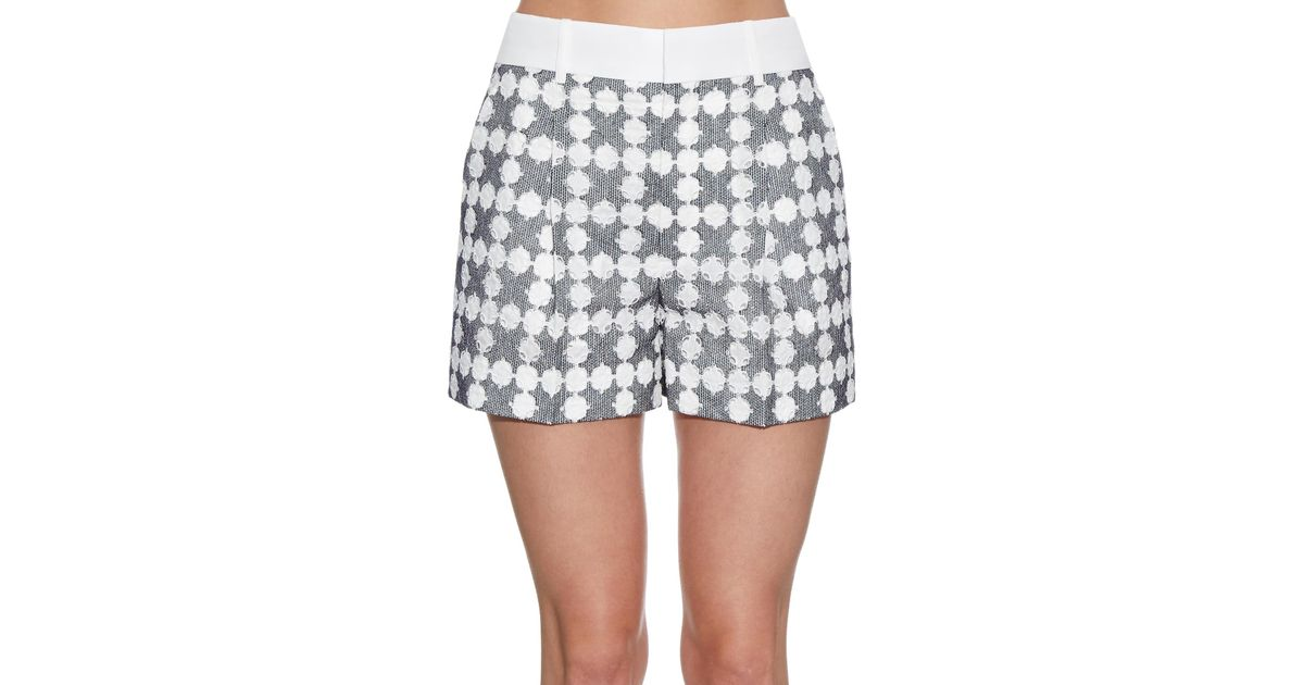 Chlo Broderieanglaise Embroidered Shorts In Blue BLUE