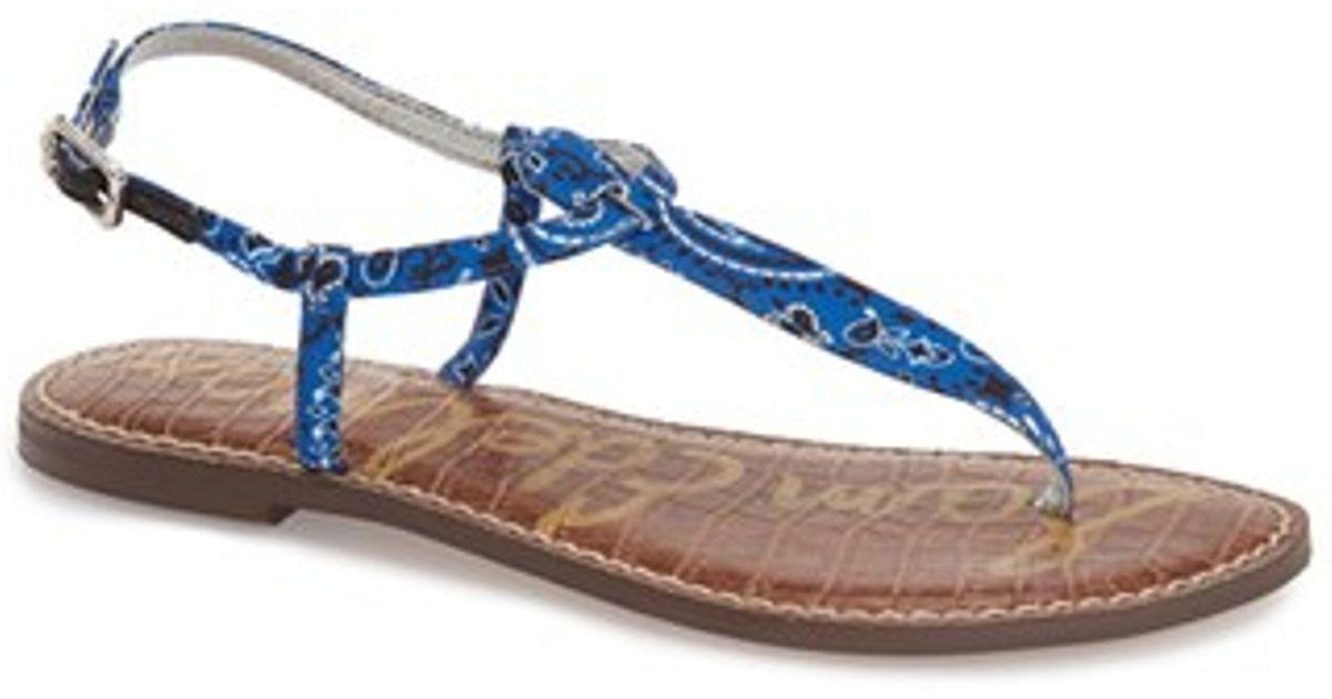 30469986382 Lyst - Sam Edelman Gigi Printed Sandals in Blue