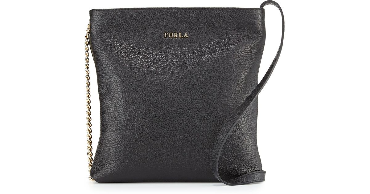 920ce538c5 Lyst - Furla Julia Small Leather Crossbody Bag in Black
