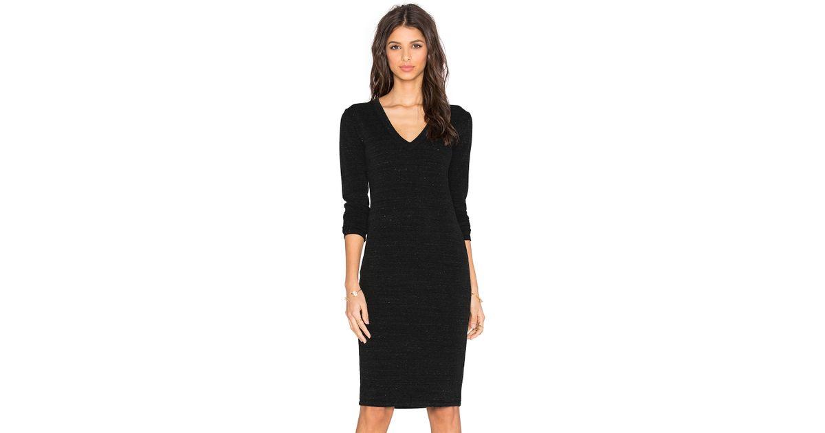 41c9f4e94fda Lyst - Saint Grace Long Sleeve V Neck Mini Dress in Black