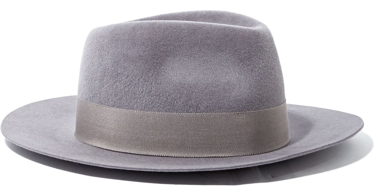 b2dbf31abb786 Larose Mens Rabbit Felt Fedora Hat in Gray for Men - Lyst