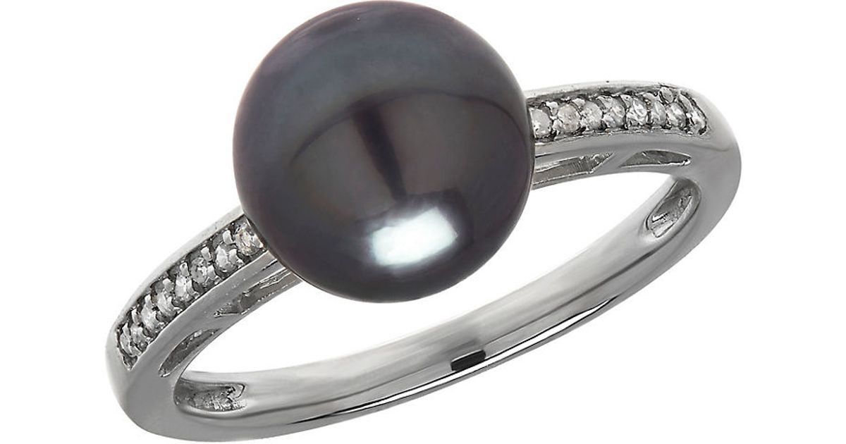 lord 9mm tahitian pearl and 14k white