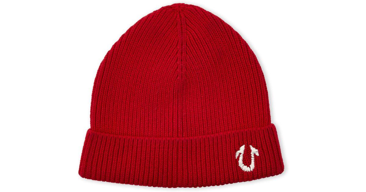 440fece2 True Religion Knit Hat in Red for Men - Lyst