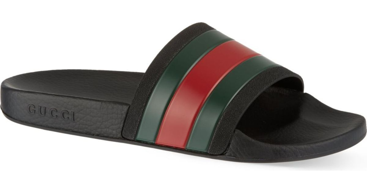 2a8c9e51f5b7 Gucci Pursuit Striped Sandals for Men - Lyst