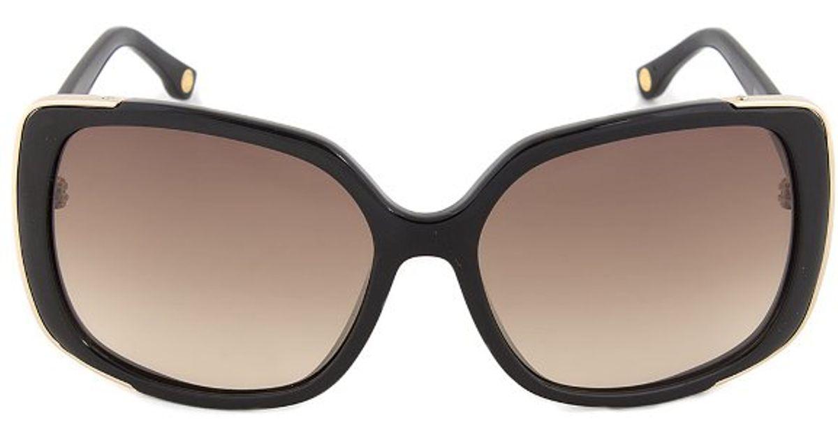5914e6e46d9 Michael Kors Mks290 001 Gabriella Black Square Oversized Designer Sunglasses  in Black - Lyst