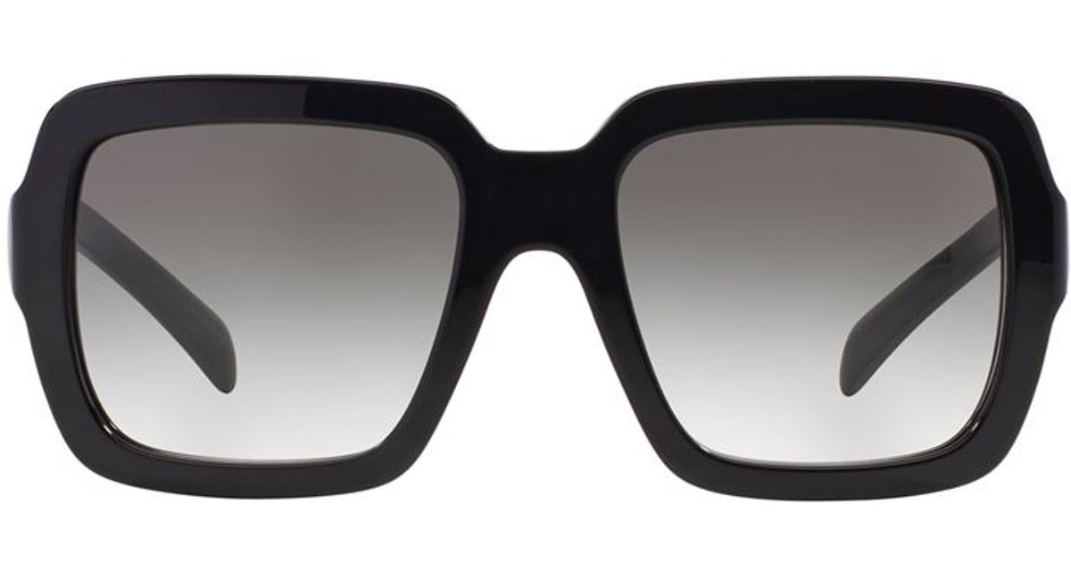 350e828053 ... release date prada oversized square sunglasses in black lyst 03c8b 170bb
