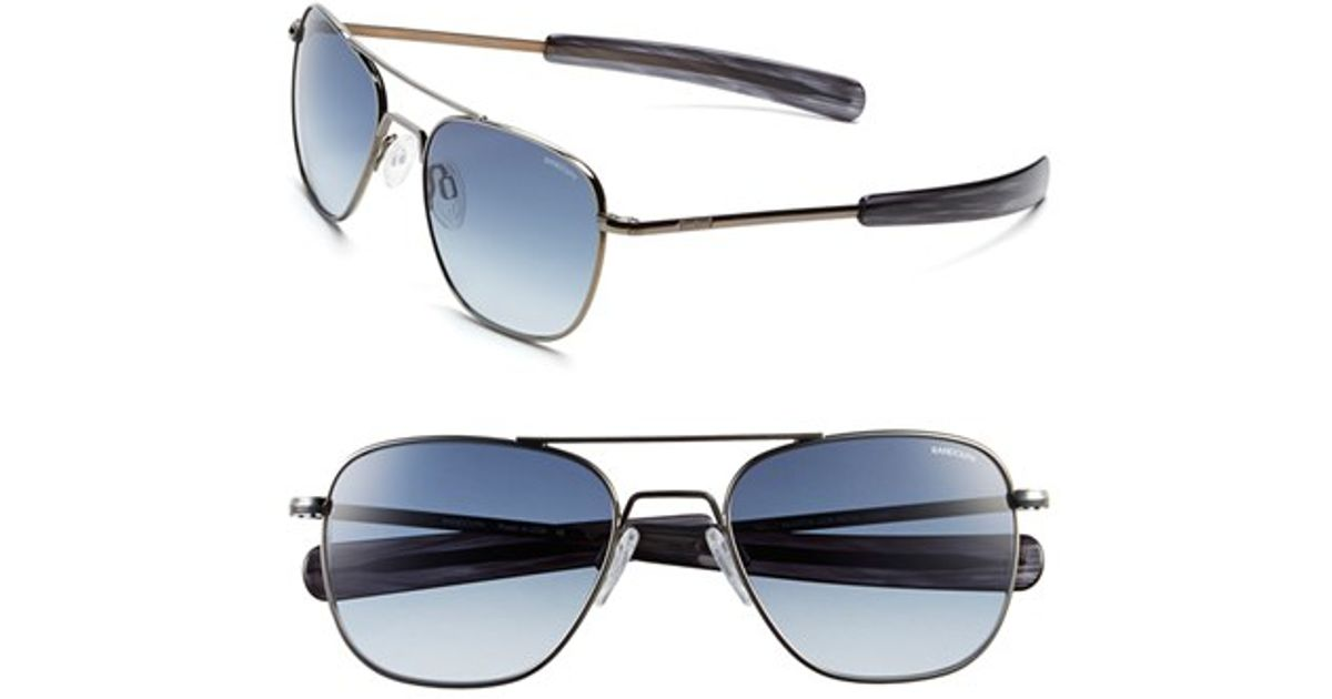 f41400b101d Lyst - Randolph Engineering  aviator  55mm Sunglasses - Gunmetal  Blue  Gradient in Metallic for Men