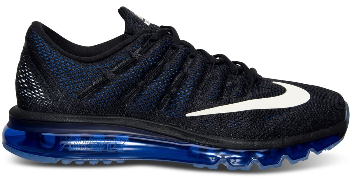 hot sale online d2752 91a91 Lyst - Nike Mens Air Max 2016 Running Sneakers From Finish Line in Black  for Men