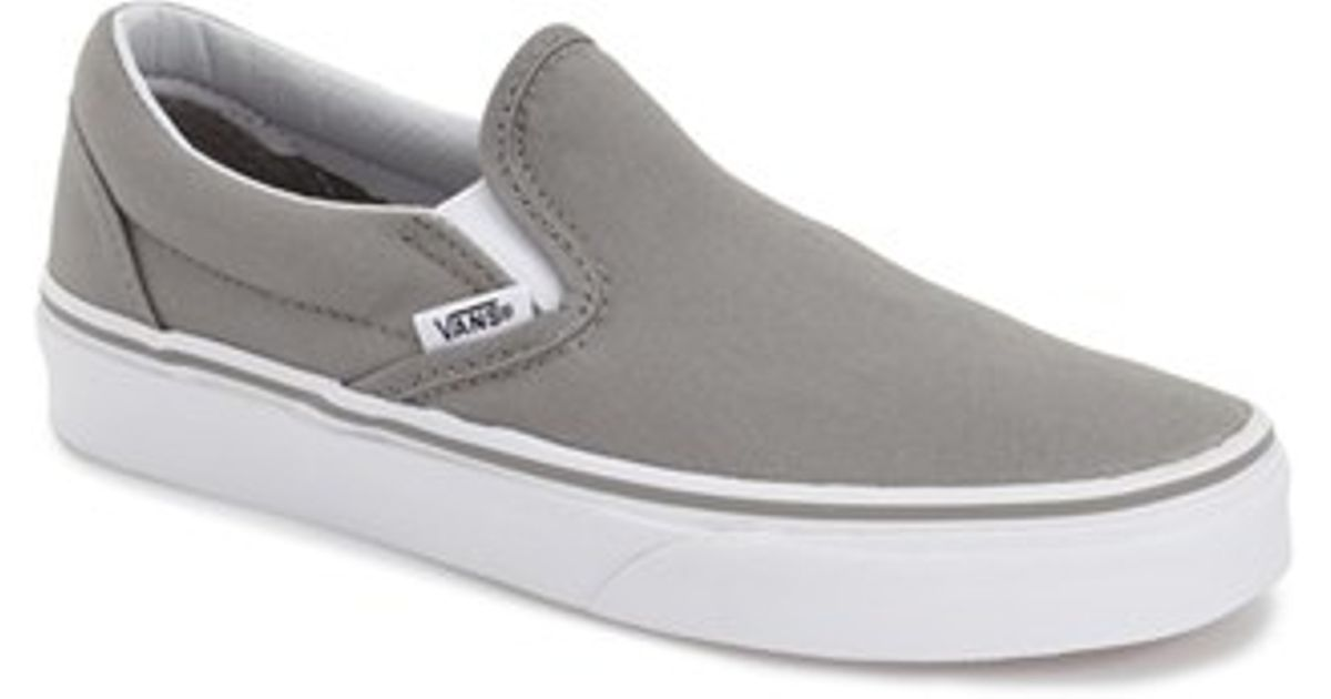 vans classic grey slip on