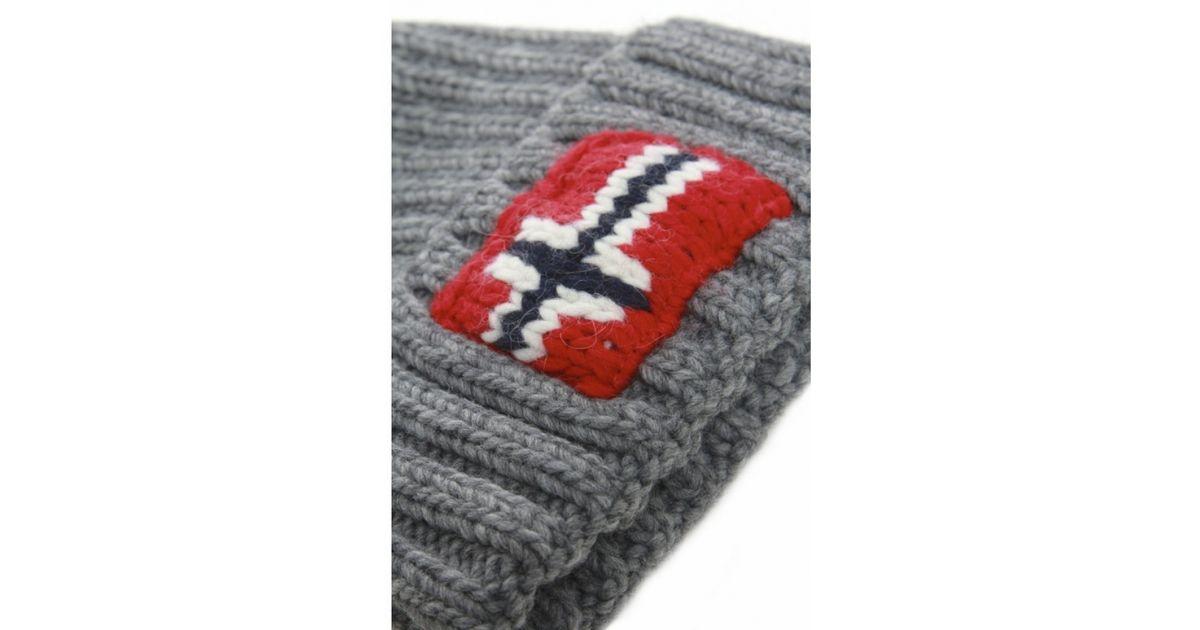 dfc8975f1e4 Lyst - Napapijri Semiury Bobble Hat in Gray for Men