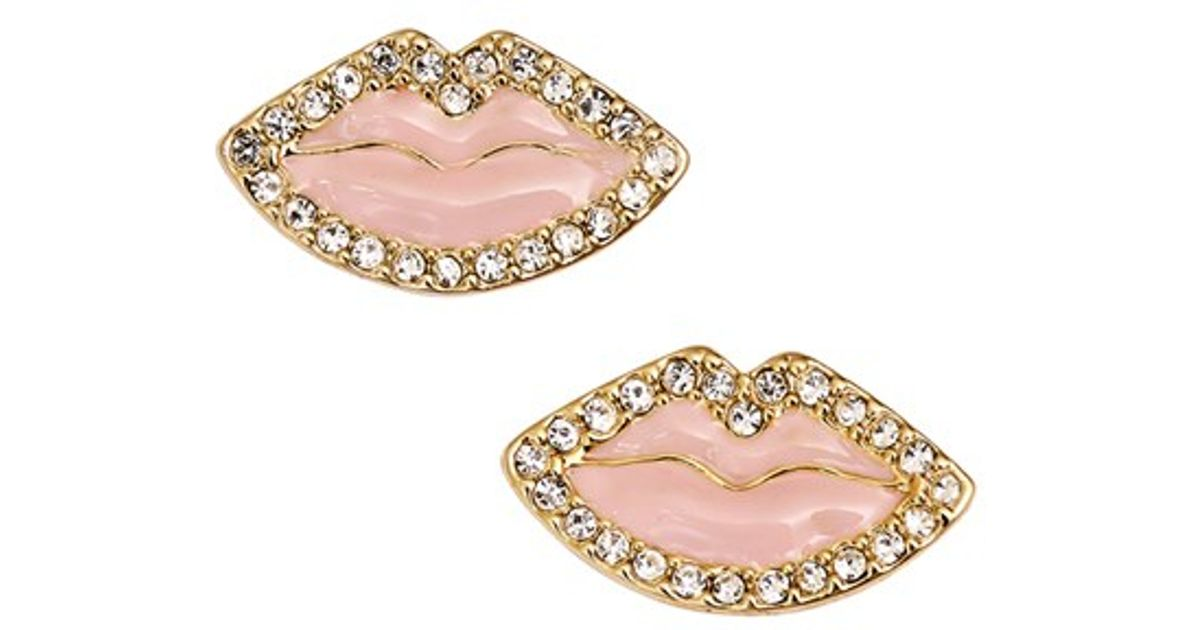 Kate spade new york \'love List\' Lip Stud Earrings - Light Pink in ...
