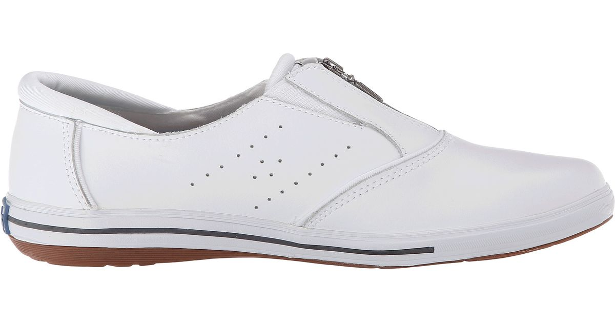 keds pacey zip smooth leather in white lyst