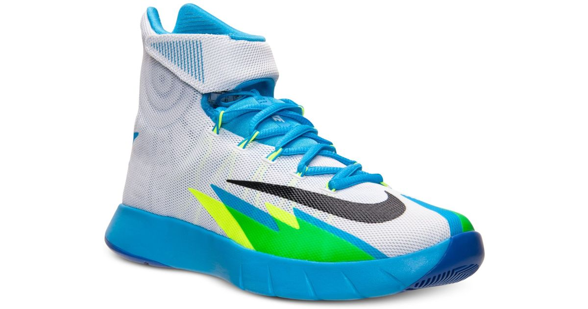 finest selection 8e288 4920d Lyst - Nike Mens Zoom Hyperrev Basketball Sneakers From Finish Line in Blue  for Men ...