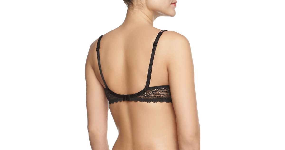 ff43f638d5 Lyst - Chantelle Merci Spacer Lace-trim T-shirt Bra in Natural