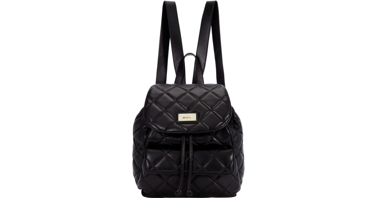 Dkny Gansevoort Quilted Leather Backpack in Black | Lyst : dkny quilted rucksack - Adamdwight.com