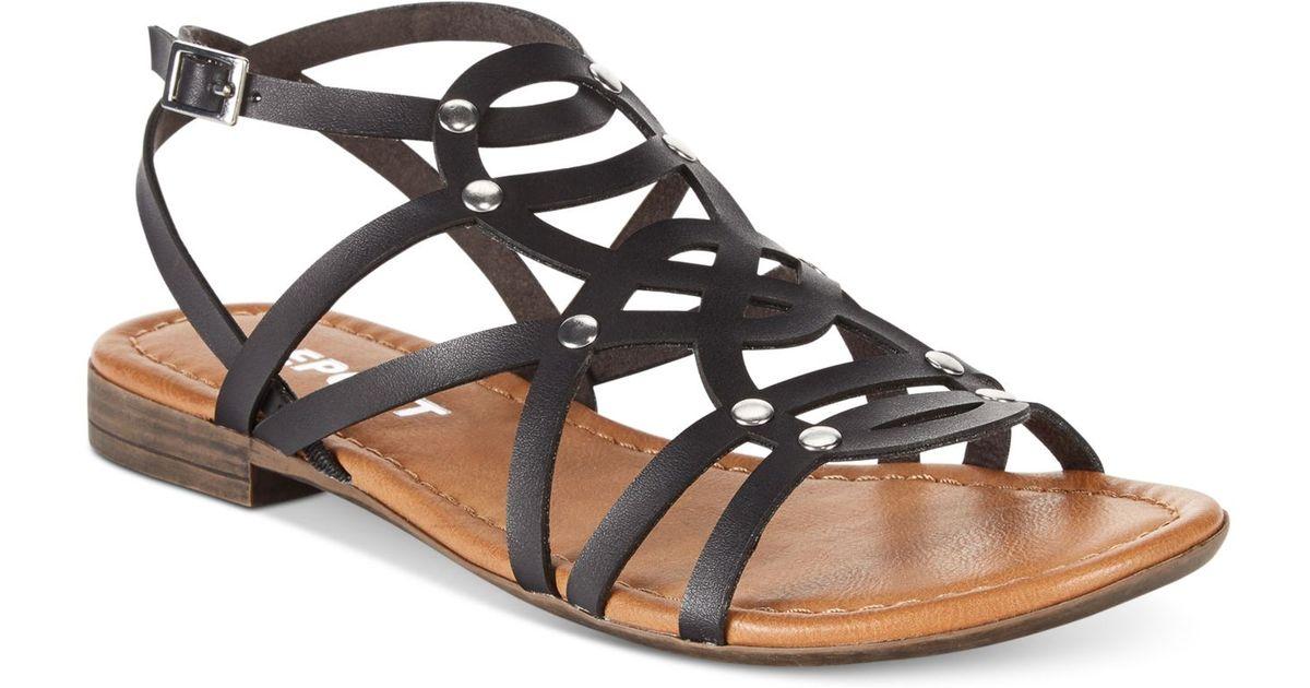 5b72f81b56fd6f Lyst - Report Gamma Flat Gladiator Sandals in Black