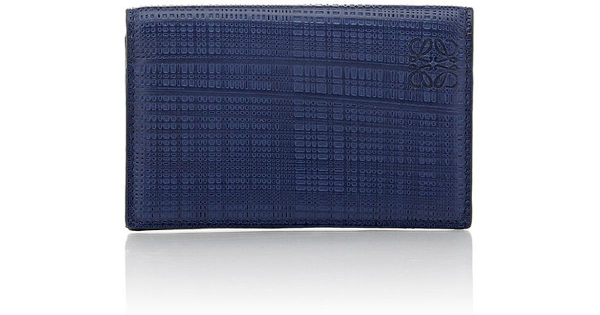 Loewe Men s Business Card Case in Blue for Men