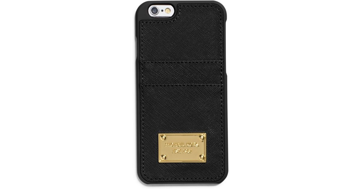Michael kors saffiano leather pocket smartphone case in for Housse iphone 6 michael kors
