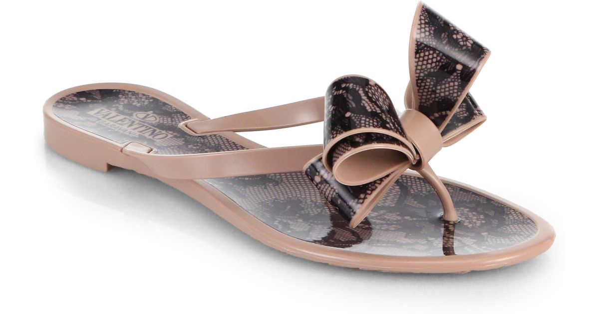Valentino Bow Thong Sandals browse sale online big discount cheap price on hot sale clearance reliable sale best wholesale bof2h5HW9