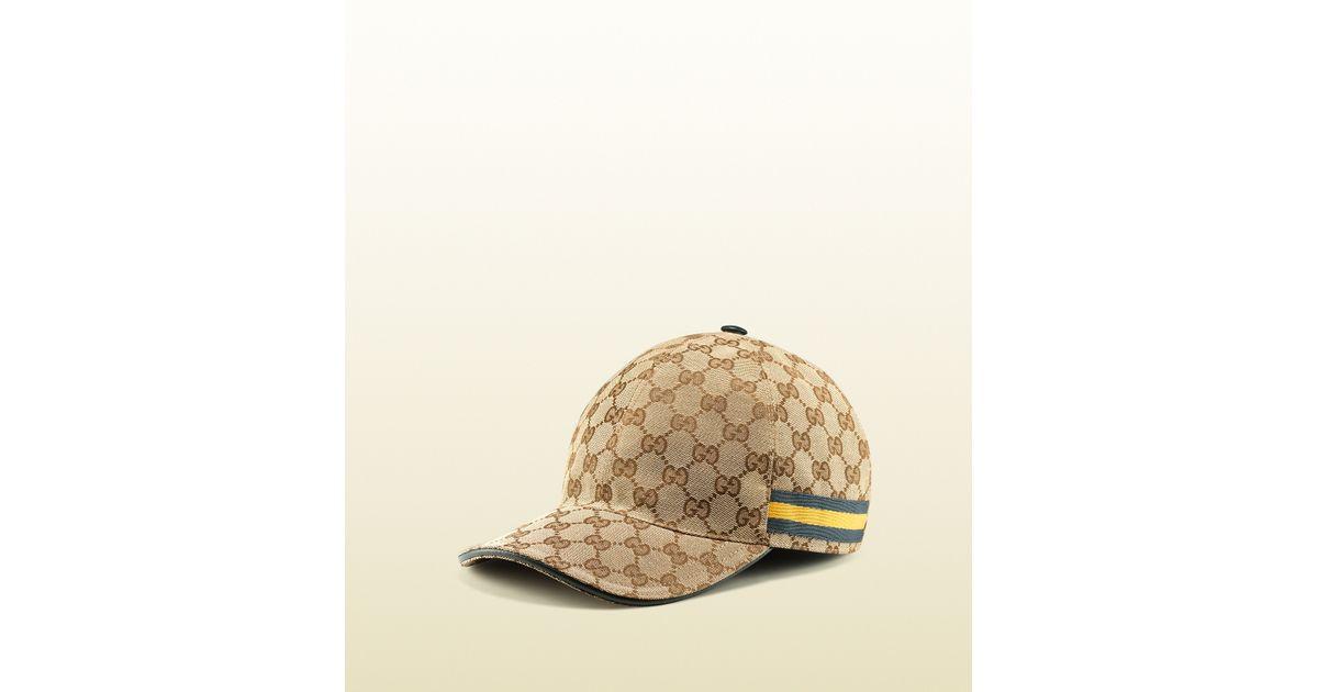 d7f512d6fa422b Gucci Original Gg Canvas Baseball Hat in Brown for Men - Lyst