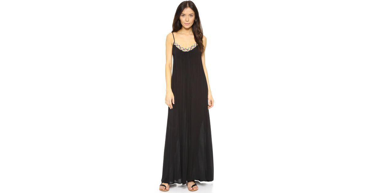 6698ed02a7 Lyst - Red Carter Friendship Bracelet Braided Neck Long Dress in Black