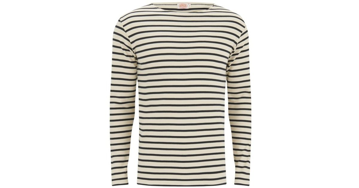 effac49b4befbc Armor Lux Men's Breton Stripe Long Sleeve T-shirt in Blue for Men - Lyst