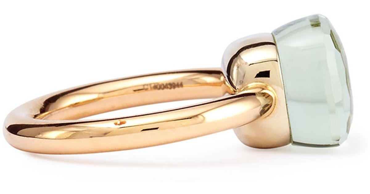 Pomellato Nudo Rose Gold Amp Prasiolite Ring In Metallic Lyst