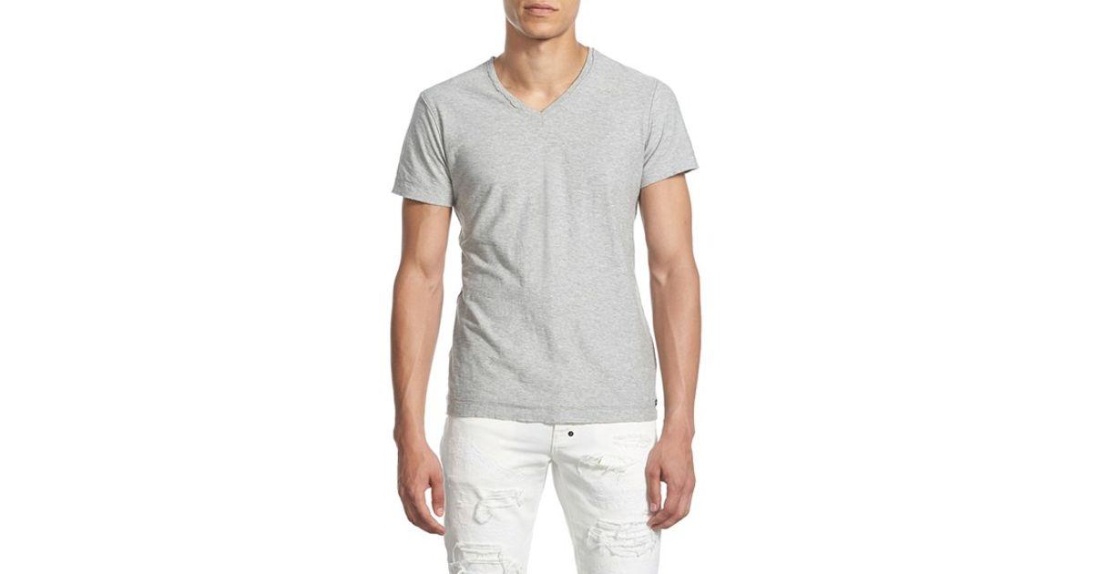 Diesel 'tossik' V-neck T-shirt in Gray for Men (HEATHER GREY) | Lyst