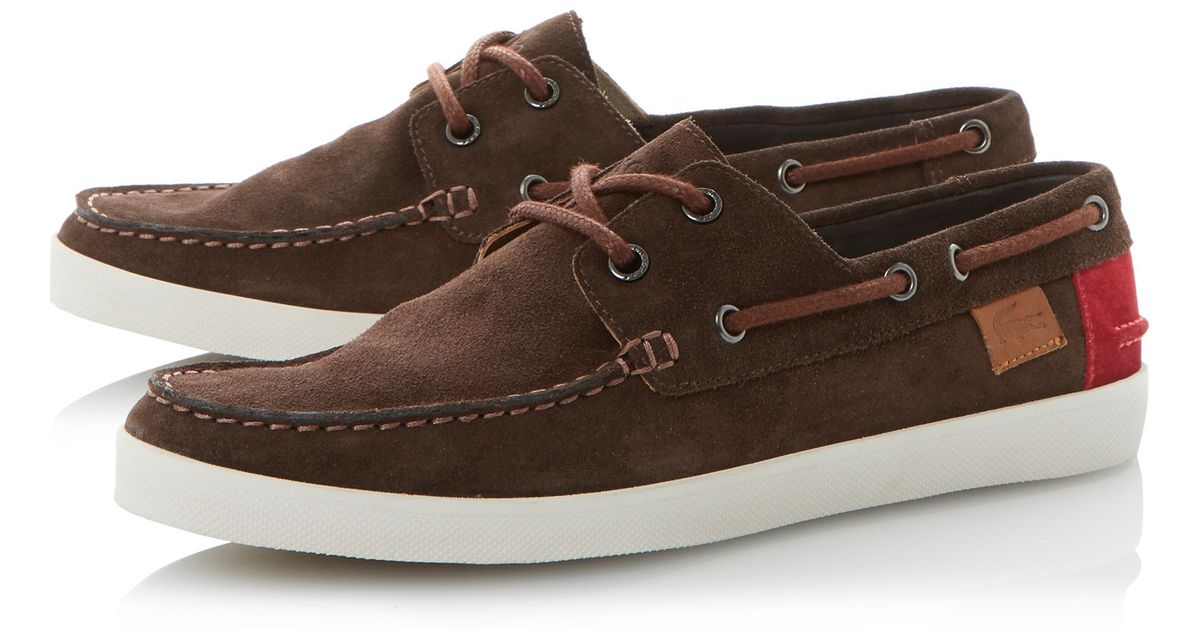 274746536a53 ... lacoste boat shoes suede ...