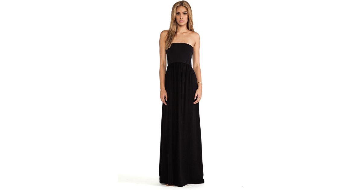Splendid strapless maxi dress black