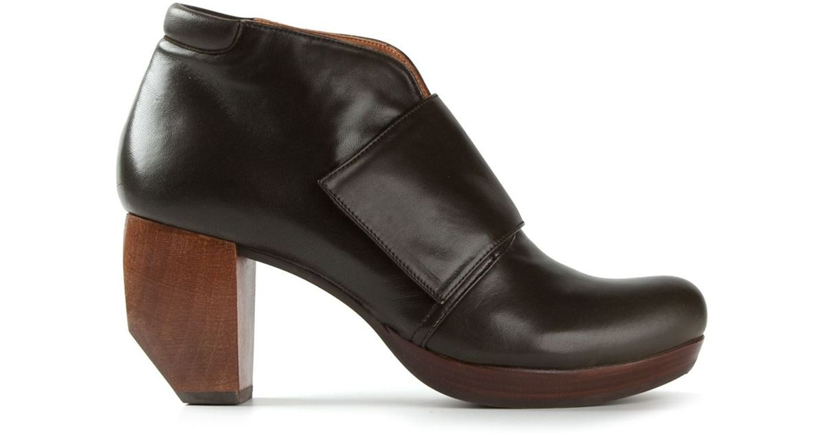 Chie mihara 'Downtown' Chunky Heel Boots in Green   Lyst